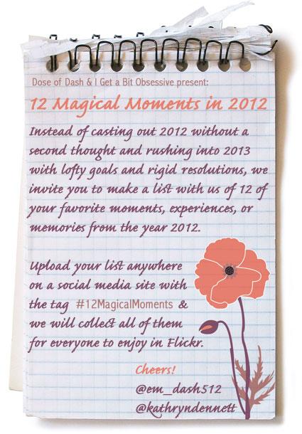 12 magical moments invite