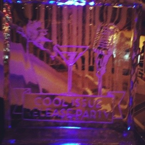 austin monthly party ice sculpture