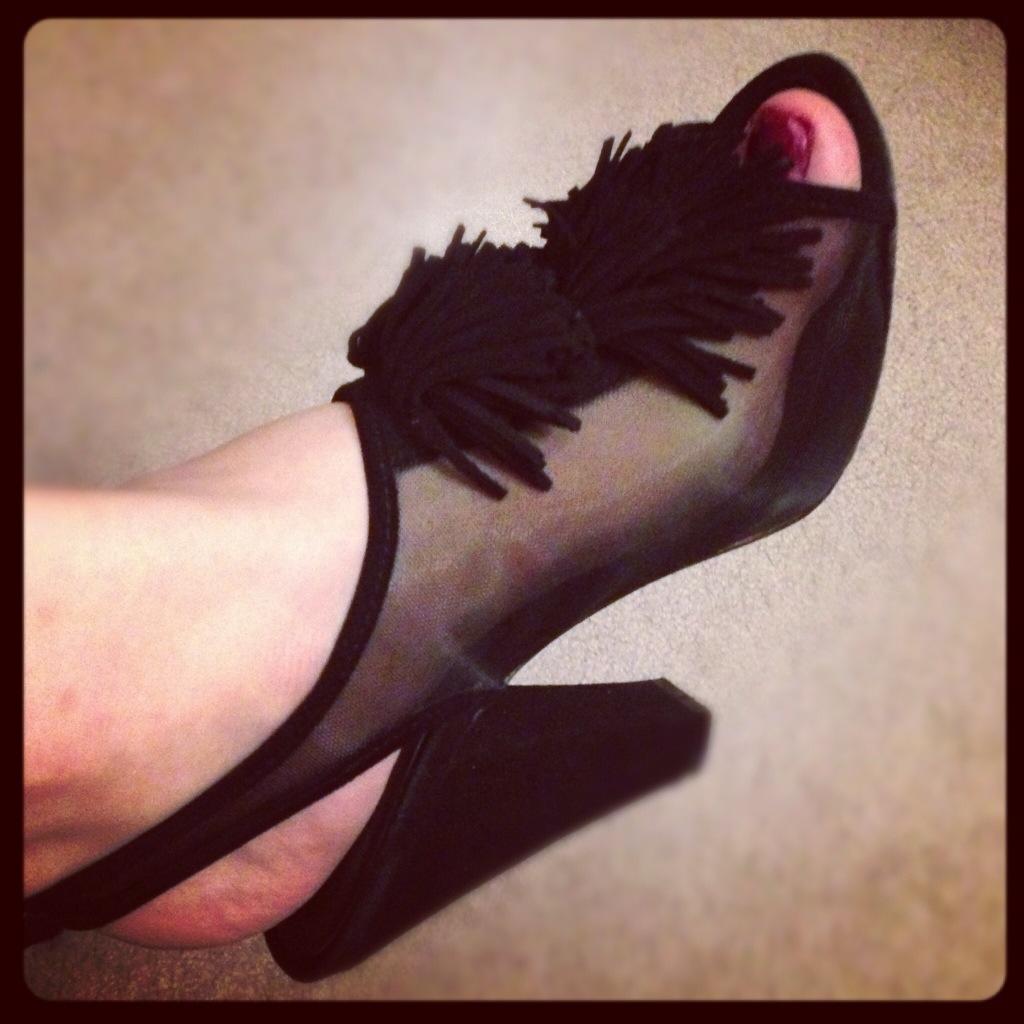 reed evins fringe heels