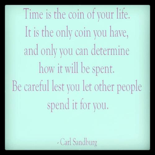 carl sandburg time quote dose of dash