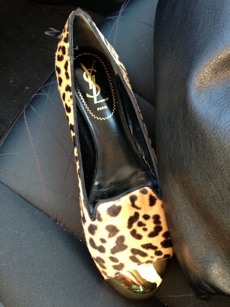 ysl leopard cap toe smoking slippers