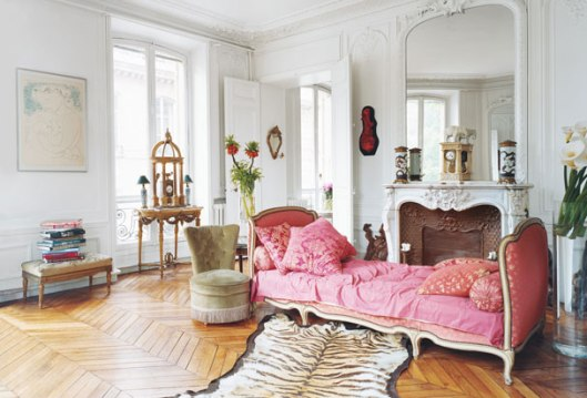 parisian apartment with fireplace