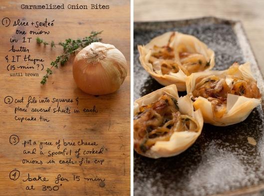 forest feast onion tartlet