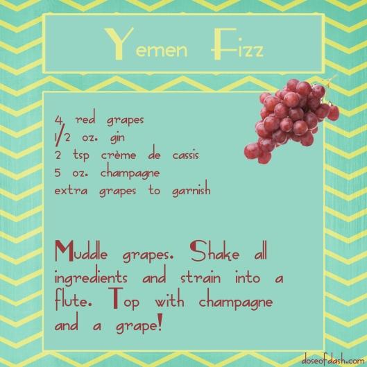 yemen fizz grape champagne cocktail
