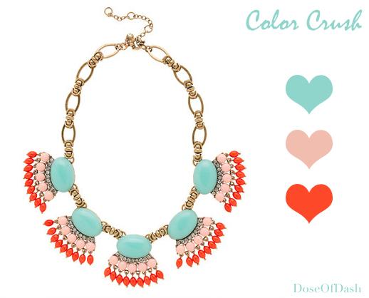 color crush tiffany peach coral