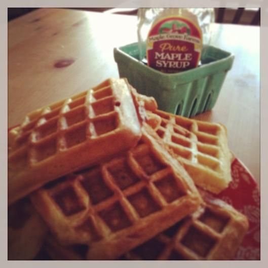 buttermilk waffles homemade
