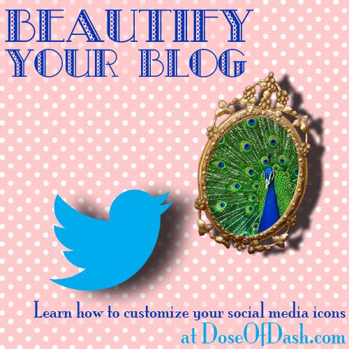 customize blog social media icons