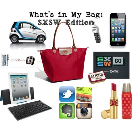 whats in my bag sxsw 2013