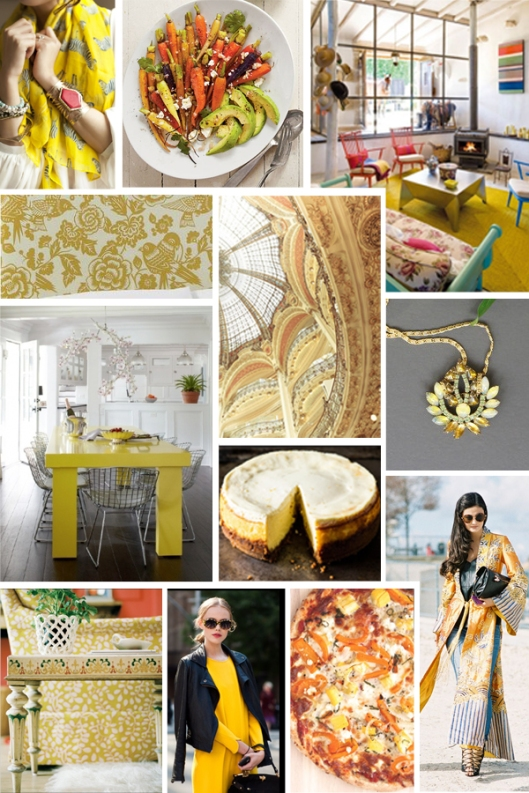 sunshine yellow spring mood board