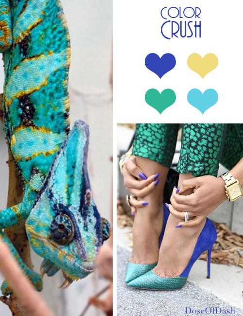 color crush aqua blue green gold