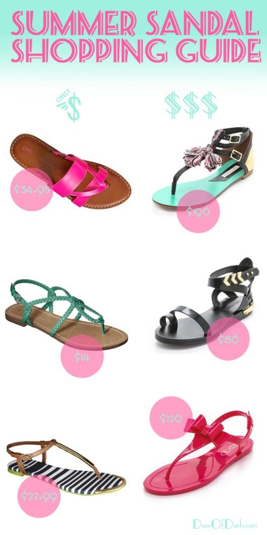 summer sandal shopping guide