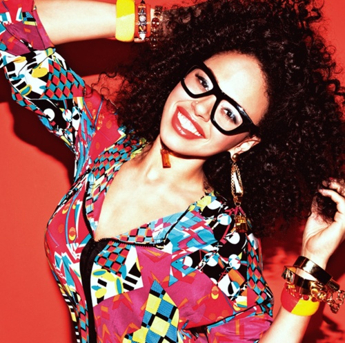 bright colors curly hair elle