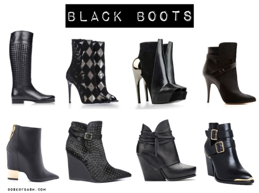 designer black boots for fall