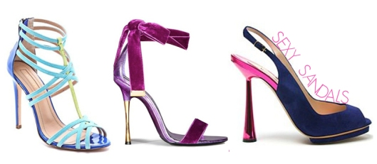 high heel sandals fall colors