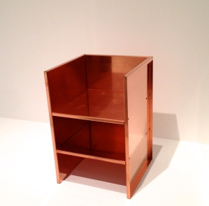 donald judd copper chair