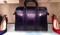 givenchy blue croc handbag