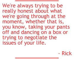 Rick Gardone quote on honesty and self-expression