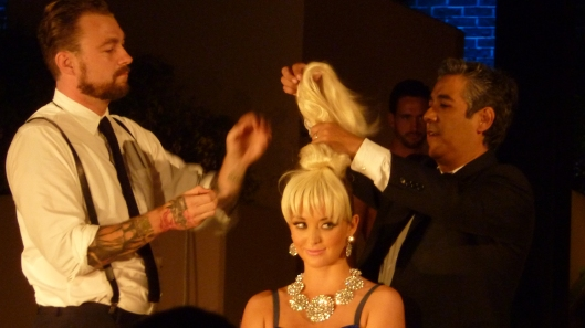 hair show live styling