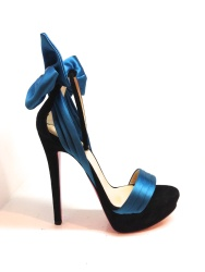 louboutin blue bow heels