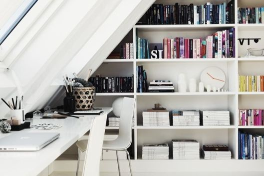 white and simple office area