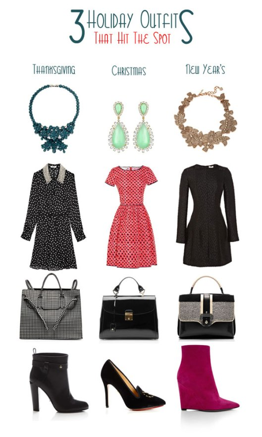 dresses and outfits for the holidays