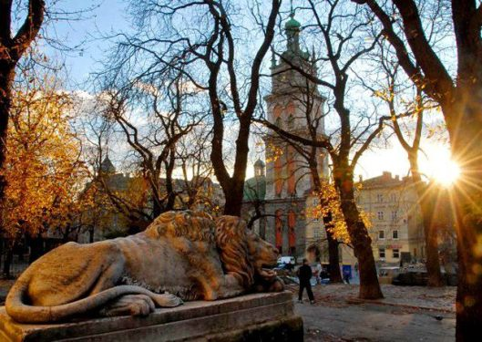 lion medieval symbol of lviv ukraine