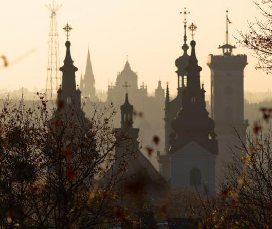church spires in lviv