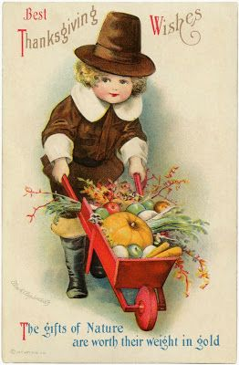 vintage thanksgiving post card antique