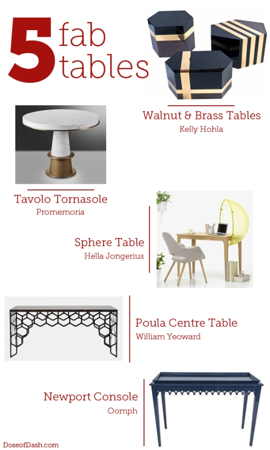 5 fabulous tables from elle decor magazine