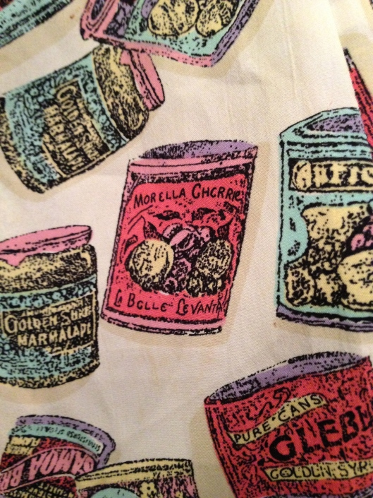 vintage clothes print with cans