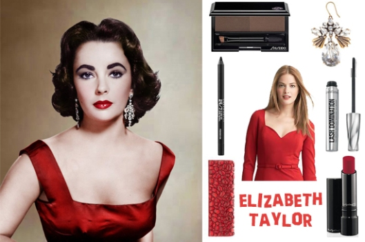 elizabeth taylor glamorous red hollywood look