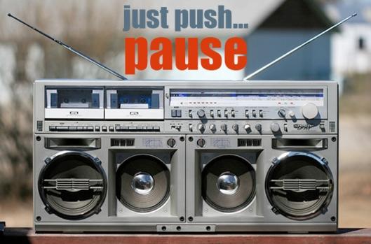 pausing