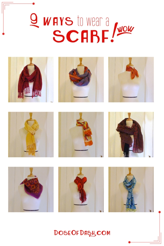 9 different ways to tie a scarf